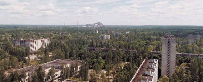 With no humans, the surrounding forests are slowly reclaiming the city of Pripyat.