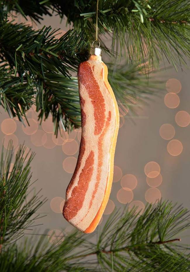 Bacon is delicious, but I don't think it belongs on the Christmas Tree...or does it?