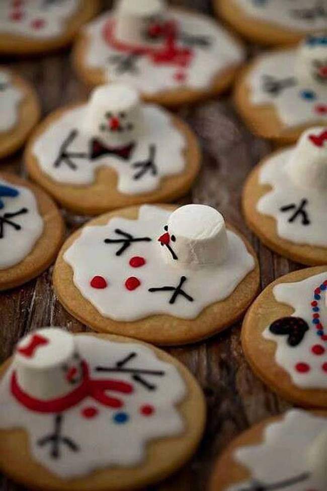 These melted snowmen don't look very happy, but they taste great.