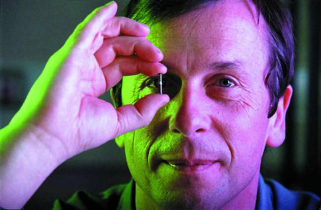 Kevin Warwick is a cybernetics professor at the University of Reading. He installed a chip in his own arm that allows him to control lights, doors, heaters, and even other computers.