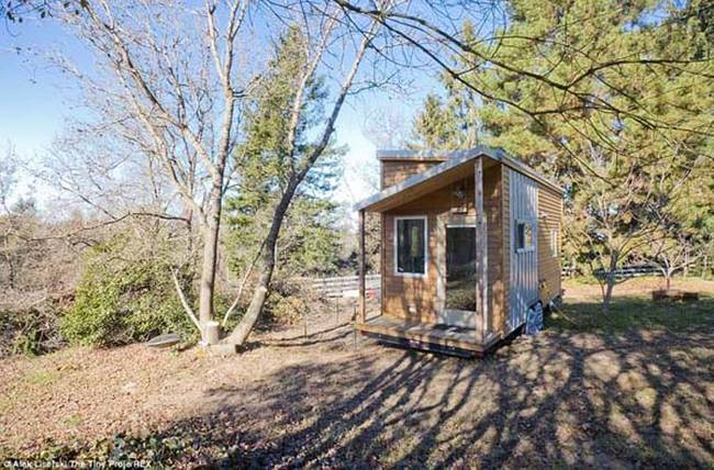 "Alex Lisefski built his tiny house to live simply. ""Inhabiting such a small space will force me to live in a simpler, more organized and efficient way."""
