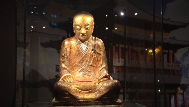 This is the Buddhist statue located at the Drents Museum.